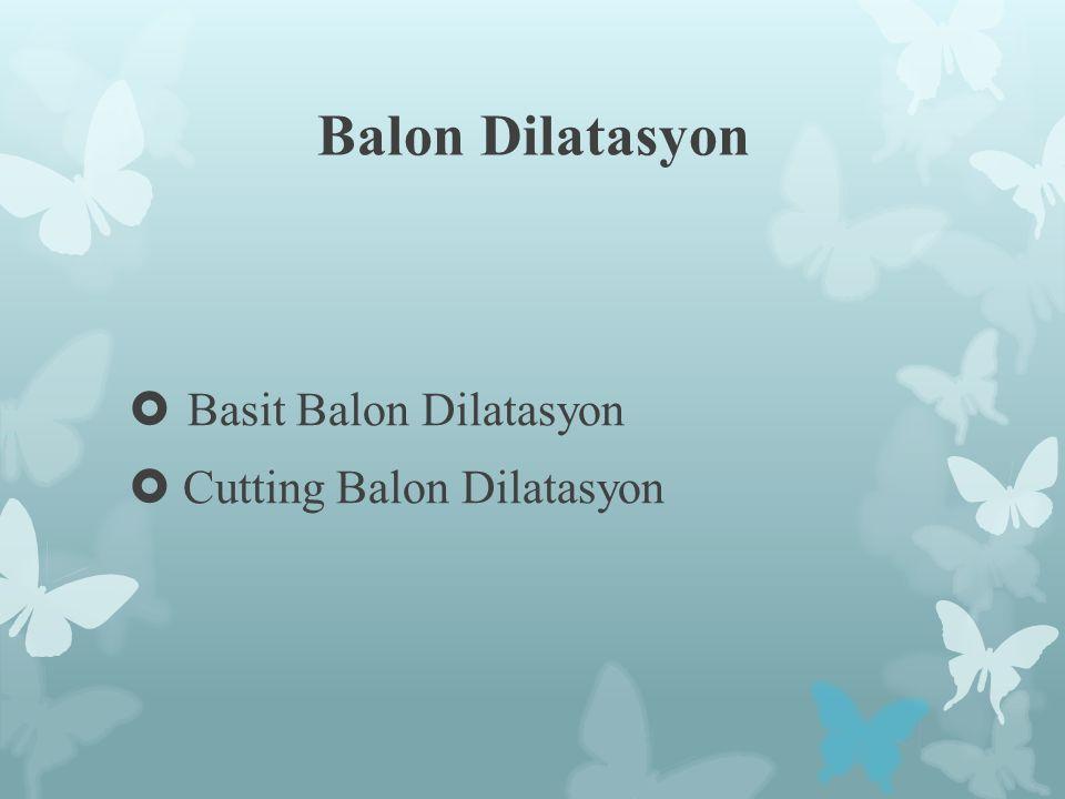 Balon Dilatasyon  Basit Balon Dilatasyon  Cutting Balon Dilatasyon