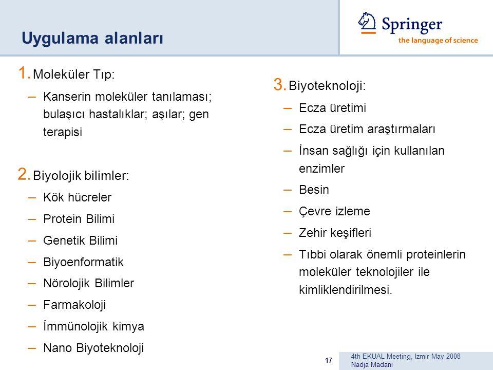 4th EKUAL Meeting, Izmir May 2008 Nadja Madani 17 Uygulama alanları 1.