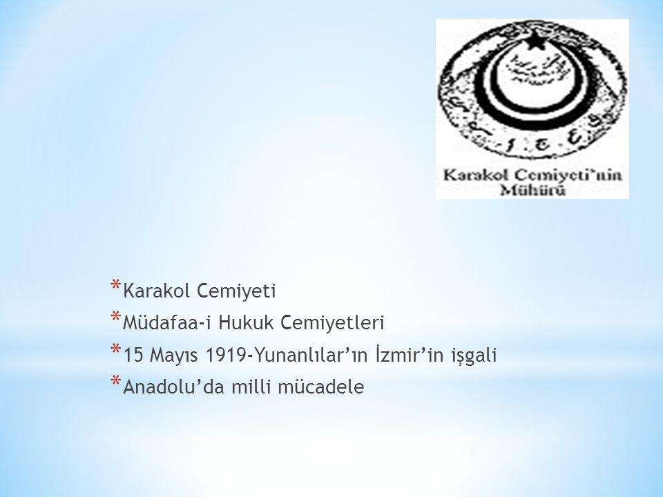 * İstanbul-(Kasım 1918-Mart 1920) * V.
