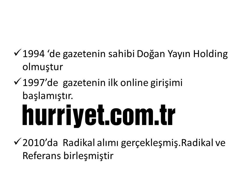1994 'de gazetenin sahibi Doğan Yayın Holding olmuştur 1997'de gazetenin ilk online girişimi başlamıştır.