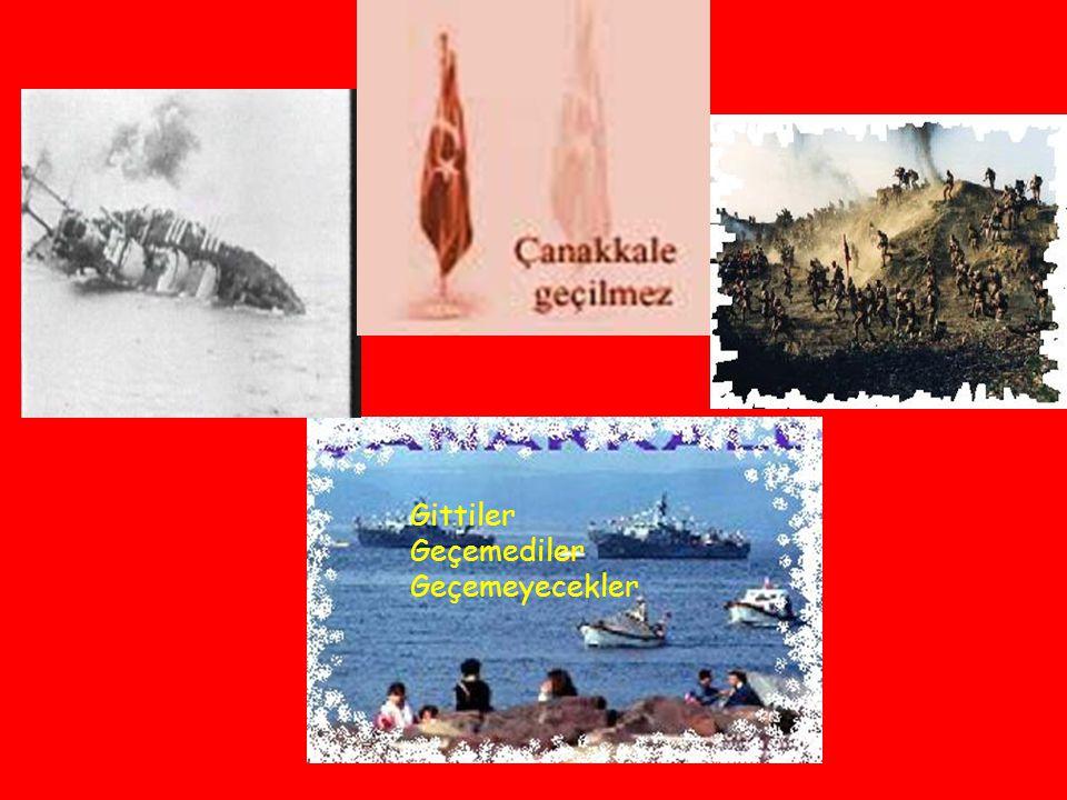 Bir karış toprak uğruna Kimimiz şehit, kimimiz gazi Hiç değişmez bu yazı Dünyada her yer geçilir belki Lakin geçilmez Çanakkale boğazı Fahri ERSAVAŞ
