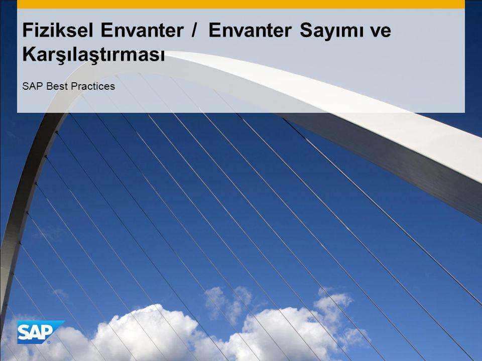 Fiziksel Envanter / Envanter Sayımı ve Karşılaştırması SAP Best Practices
