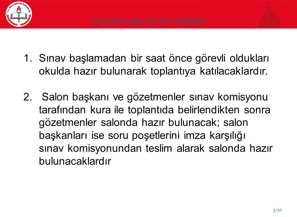 ESKİŞEHİR İL MİLLİ EĞİTİM MÜDÜRLÜĞÜ 4/20 3.