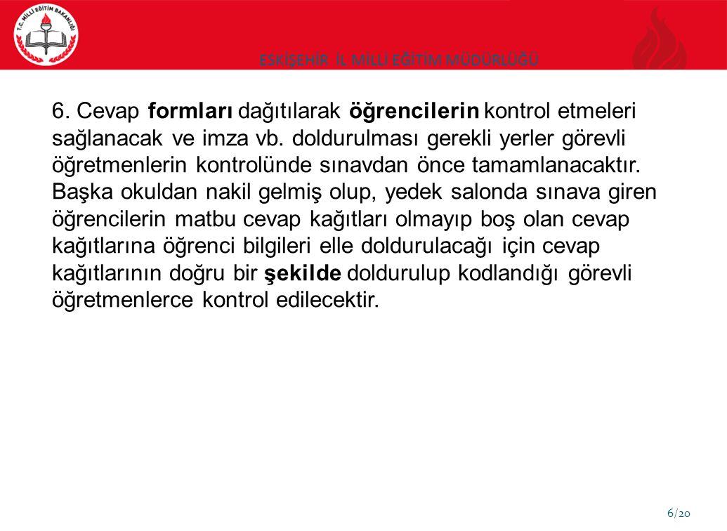 ESKİŞEHİR İL MİLLİ EĞİTİM MÜDÜRLÜĞÜ 7/20 7.