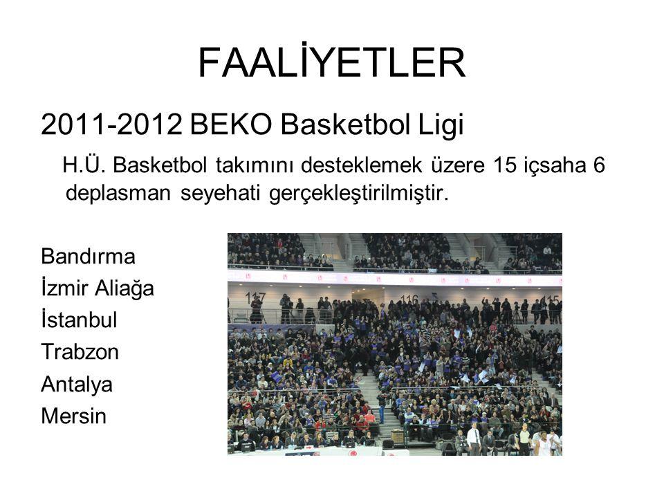 FAALİYETLER 2011-2012 BEKO Basketbol Ligi H.Ü.