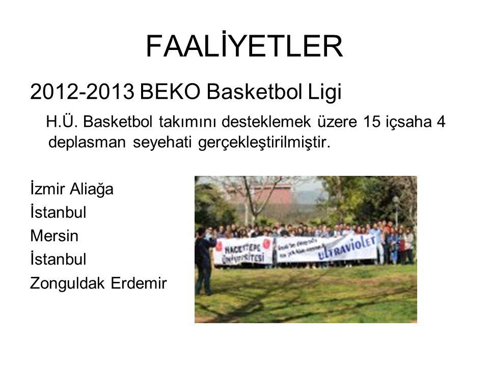 FAALİYETLER 2012-2013 BEKO Basketbol Ligi H.Ü.