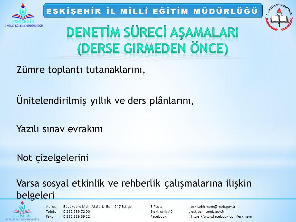 Adres:Büyükdere Mah.Atatürk Bul.