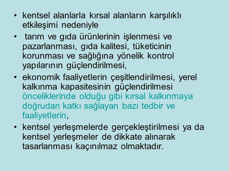 NEDEN BİR KIRSAL KALKINMA POLİTİKASI GEREKLİ.