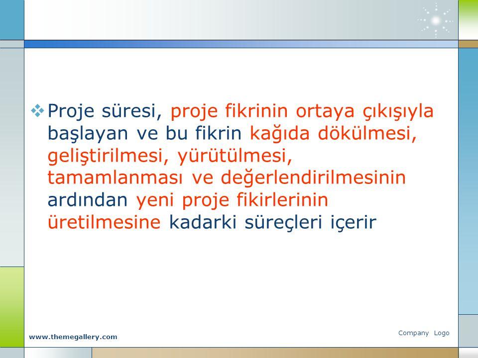 Company Logo www.themegallery.com Bilimsel Proje Nedir.