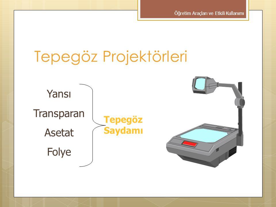Tepegöz Projektörleri Yansı Transparan Asetat Folye Tepegöz Saydamı Öğretim Araçları ve Etkili Kullanımı