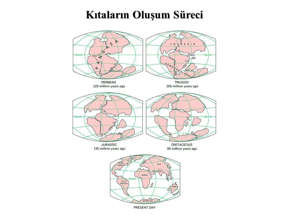 (a)Dünyadaki Levha Sınırları (b)Dünyadaki Volkanlar ve Deprem Odakları