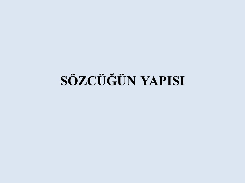 SORU 6 Altı çizili sözcüklerin hangisi hal (durum) eki almıştır.