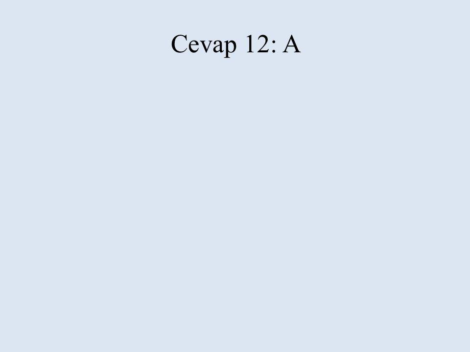 Cevap 12: A