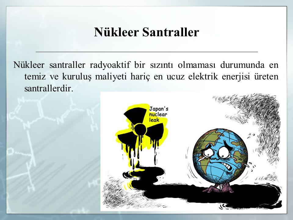 Nükleer Santraller Kondanser: Türbinde kullandıktan sonra çıkan buharı, yoğunlaştırarak suya dönüştürür.