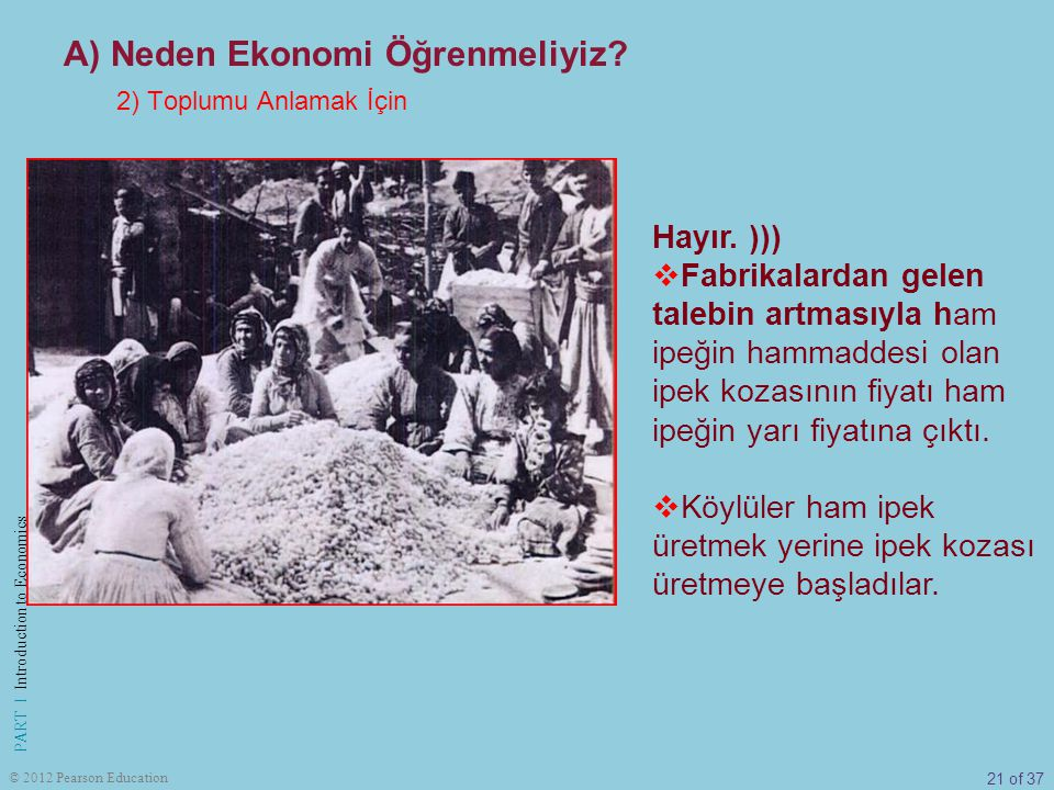 21 of 37 PART I Introduction to Economics © 2012 Pearson Education Hayır.