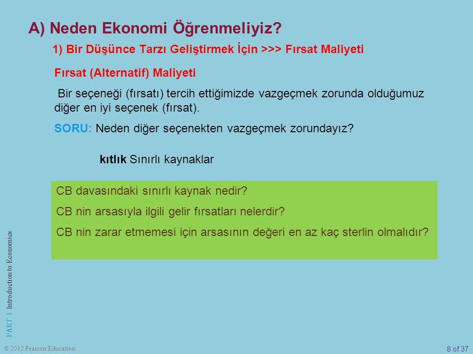 19 of 37 PART I Introduction to Economics © 2012 Pearson Education Endüstri devriminin Osmanlı Devleti ekonomisine etkileri: Bursa'nın deneyimi Bursa da ipekçilik sanatı çok eskilere dayansa da, bunun bir sanayi olarak sürdürülmesi ancak 19.