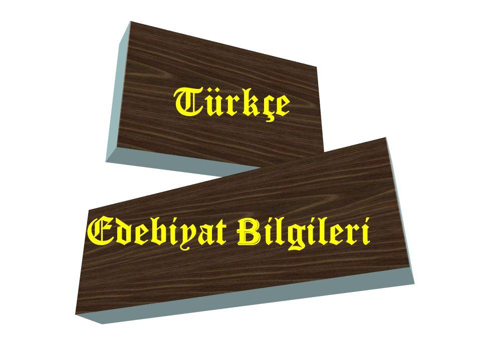 Türkçe Edebiyat B ilgileri