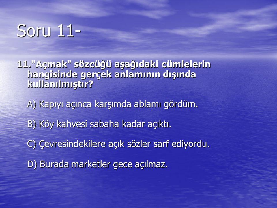 Soru 11- 11.