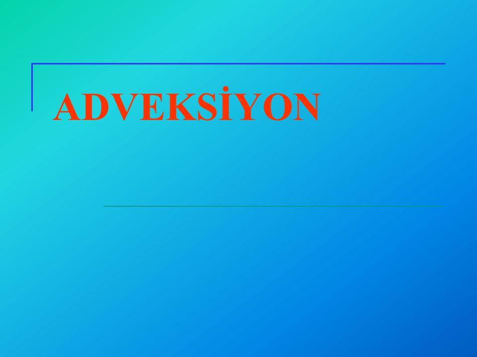 Adveksiyon Taşınan malzemenin akan yeraltısuyu tarafından taşınarak yer değiştirmesidir.