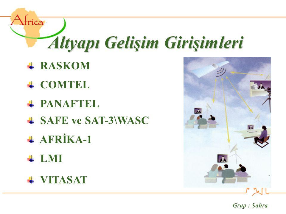 Grup : Sahra Altyapı Gelişim Girişimleri RASKOM COMTEL PANAFTEL SAFE ve SAT-3\WASC VITASAT LMI AFRİKA-1