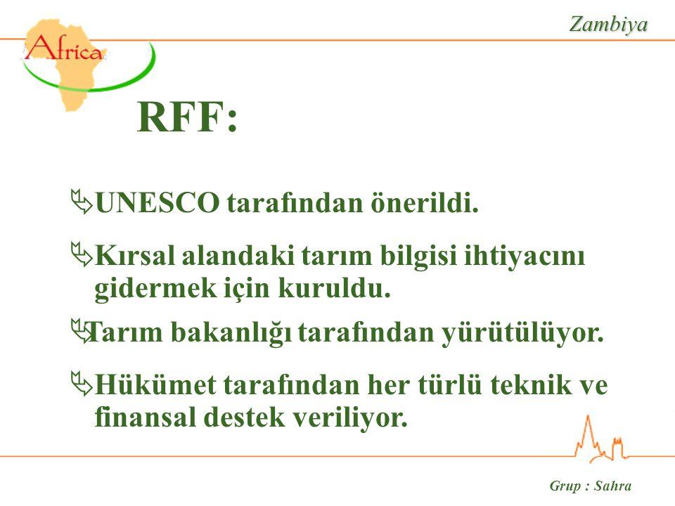 Grup : Sahra Zambiya RFF:  UNESCO tarafından önerildi.