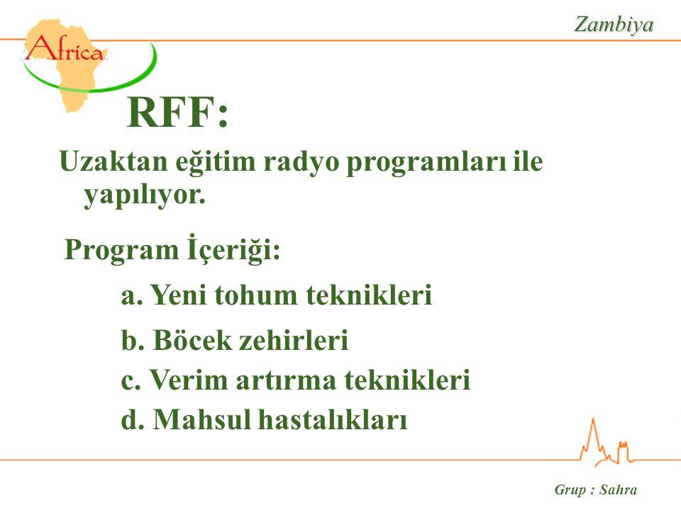 Grup : Sahra RFF: d. Mahsul hastalıkları a.