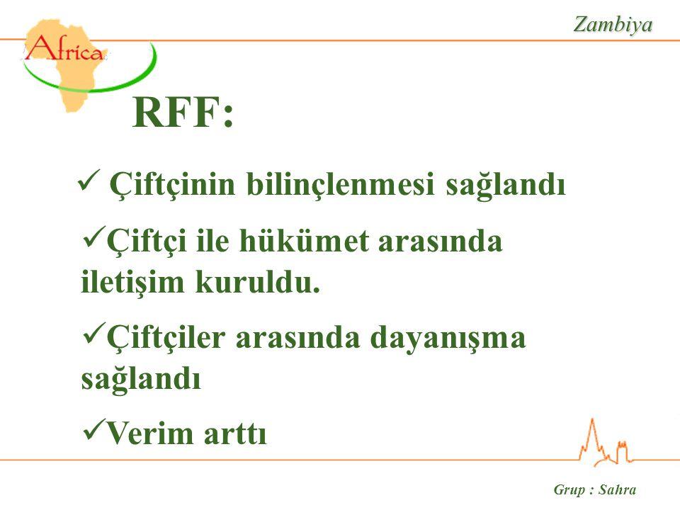 Grup : Sahra RFF: Çiftçinin bilinçlenmesi sağlandı Çiftçi ile hükümet arasında iletişim kuruldu.