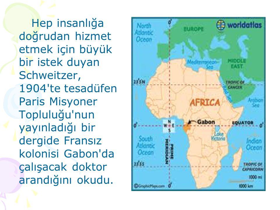 Afrika, o yıllarda kara kıta olarak anılıyordu; Avrupa dan Afrika ya gitme yürekliliğini gösteren araştırmacı ve misyonerlerin çoğu orada hastalanarak yaşamını yitiriyordu.