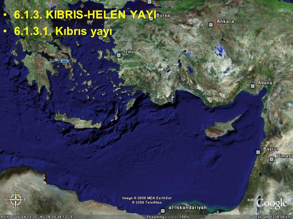 NEOTEKTONİK Doç.Dr. Yaşar EREN 6.1.3. KIBRIS-HELEN YAYI 6.1.3.1. Kıbrıs yayı