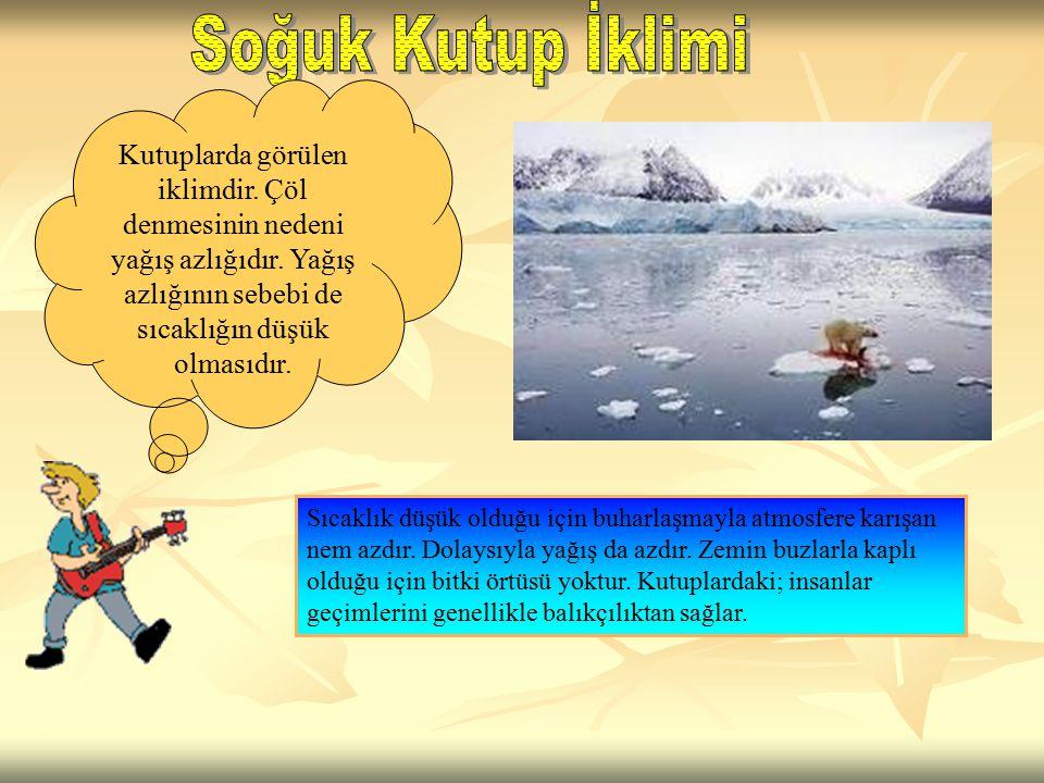 Kutuplarda görülen iklimdir.Çöl denmesinin nedeni yağış azlığıdır.