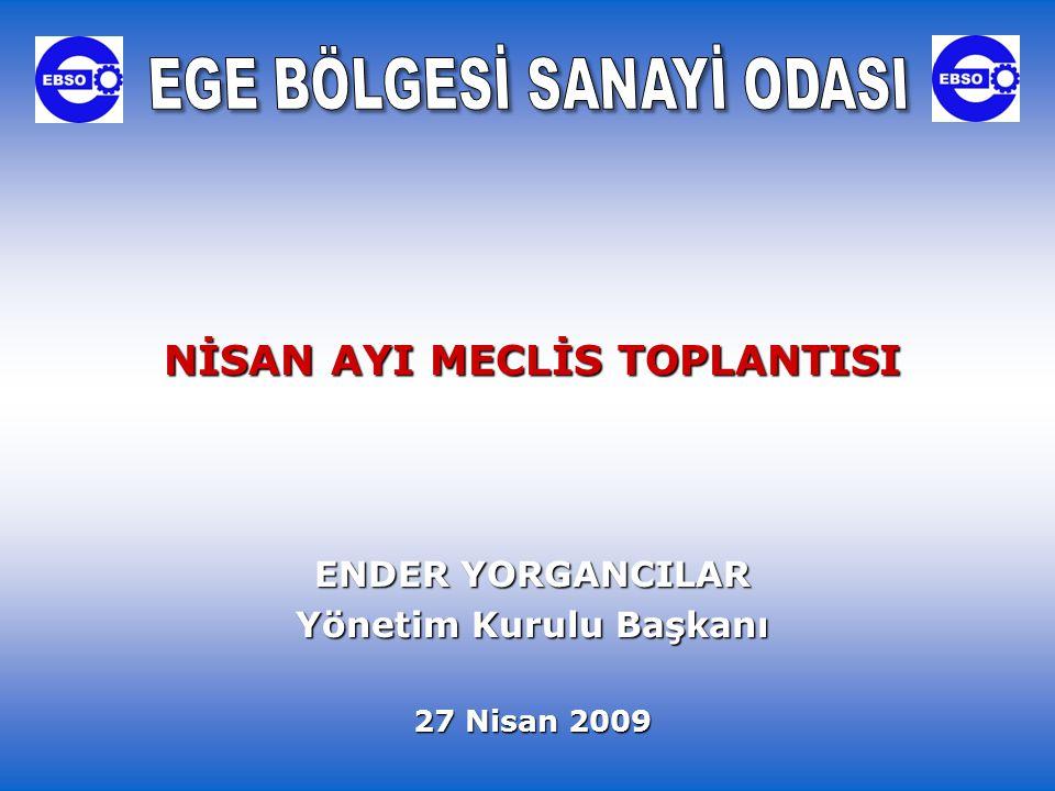 NİSAN AYI MECLİS TOPLANTISI ENDER YORGANCILAR Yönetim Kurulu Başkanı 27 Nisan 2009