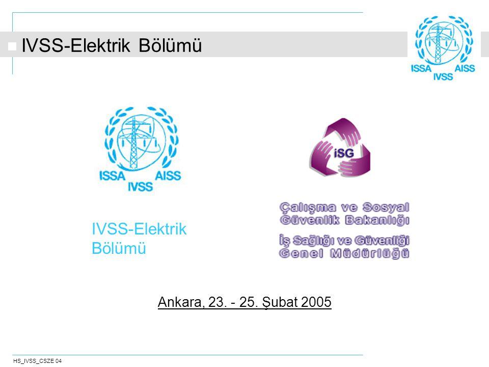 HS_IVSS_CSZE 04 IVSS-Elektrik Bölümü Ankara, 23. - 25. Şubat 2005