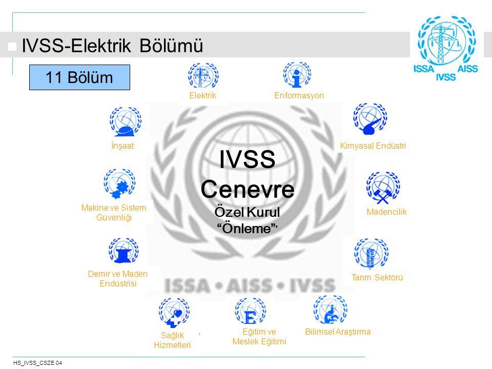 HS_IVSS_CSZE 04 İnternet: http://electricity.prevention.issa.int/ IVSS-Elektrik Bölümü