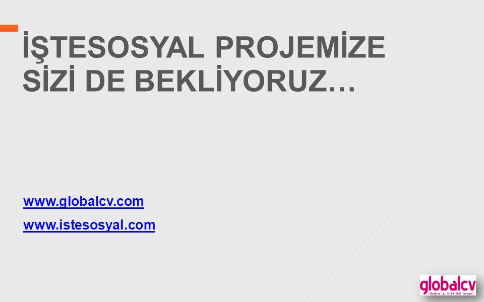 İŞTESOSYAL PROJEMİZE SİZİ DE BEKLİYORUZ… www.globalcv.com www.istesosyal.com