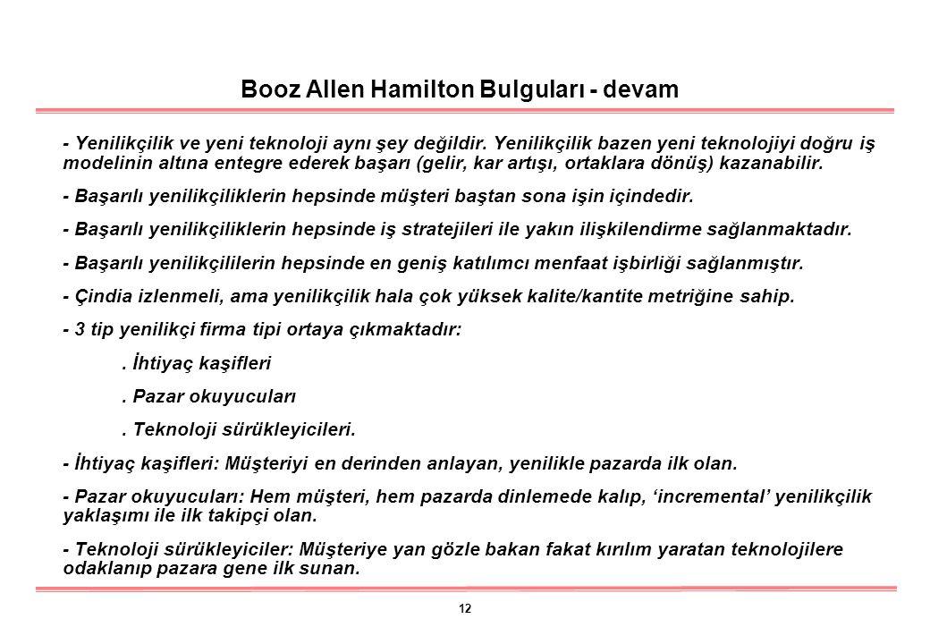 12 Booz Allen Hamilton Bulguları - devam - Yenilikçilik ve yeni teknoloji aynı şey değildir.