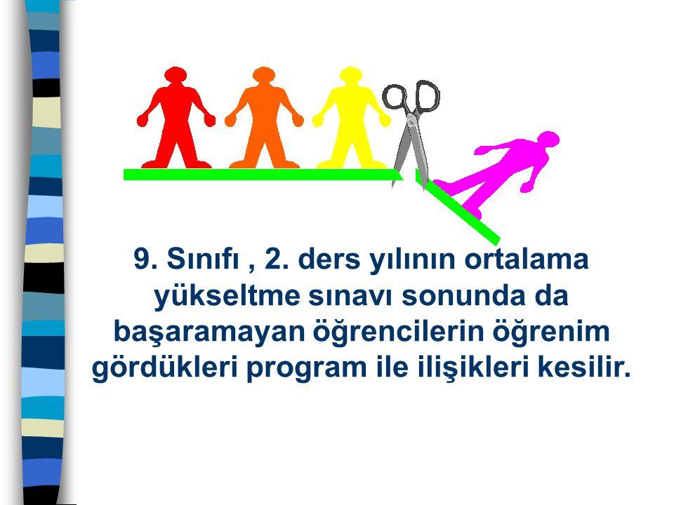 ÖĞRENCİ BAŞARISININ DEĞERLENDİRİLMESİ 9.Sınıfı, 2.
