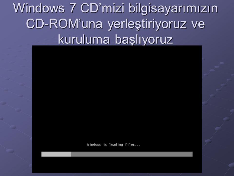Windows Yükleniyor Dilimizi Türkçe seçiyoruz.
