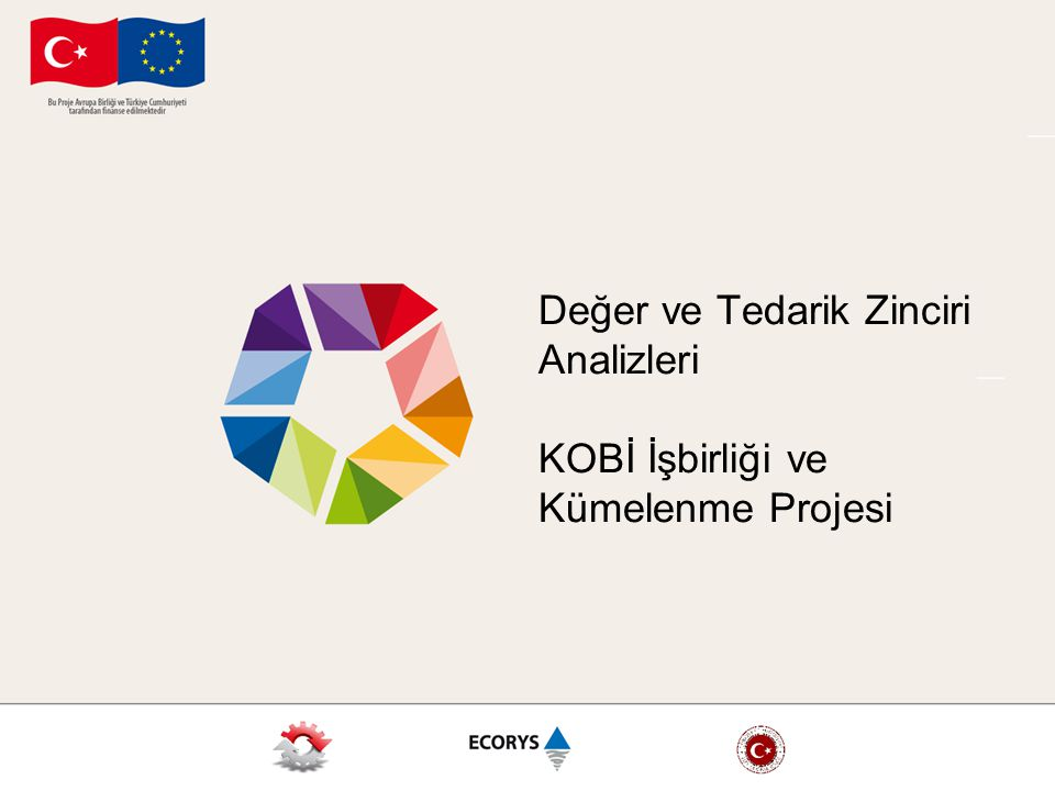 Değer ve Tedarik Zinciri Analizleri KOBİ İşbirliği ve Kümelenme Projesi
