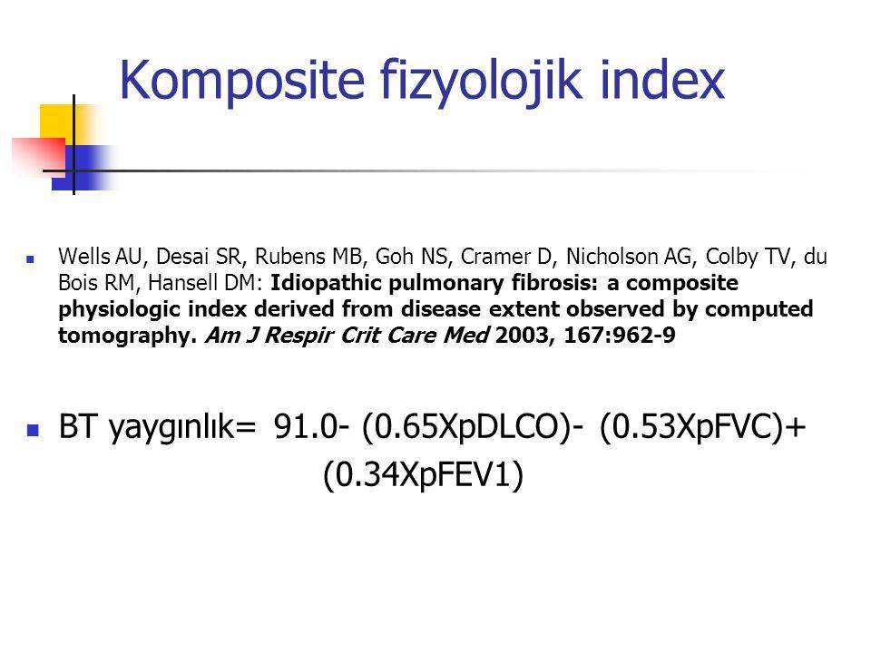 Komposite fizyolojik index Wells AU, Desai SR, Rubens MB, Goh NS, Cramer D, Nicholson AG, Colby TV, du Bois RM, Hansell DM: Idiopathic pulmonary fibro