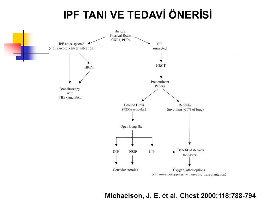 Michaelson, J. E. et al. Chest 2000;118:788-794 IPF TANI VE TEDAVİ ÖNERİSİ