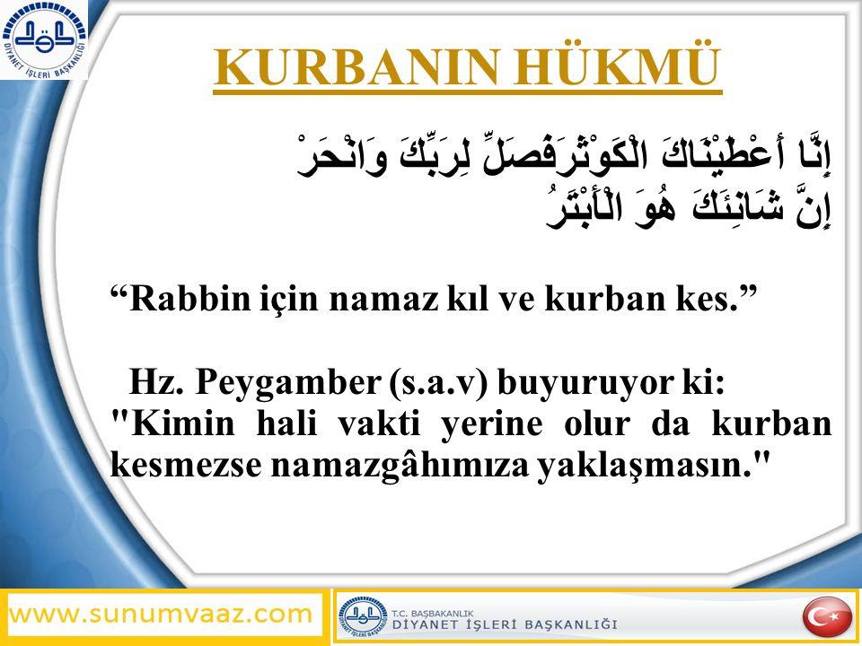 Kurban, mukim olan ve sadaka-i fıtır nisabına malik olan her erkek ve kadın Müslümana vaciptir.