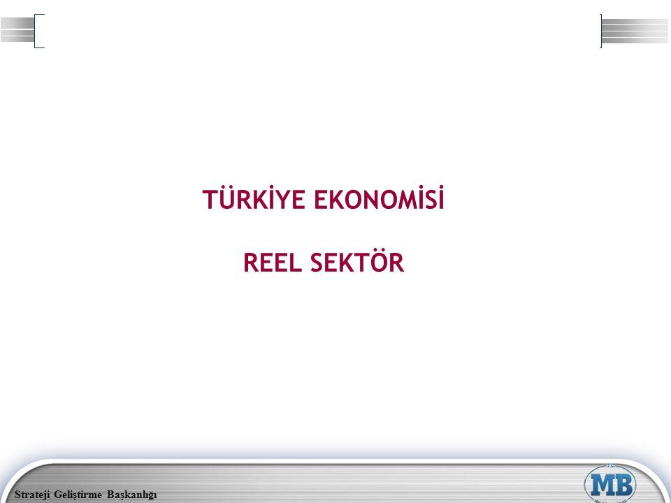 Strateji Geliştirme Başkanlığı TÜRKİYE EKONOMİSİ REEL SEKTÖR