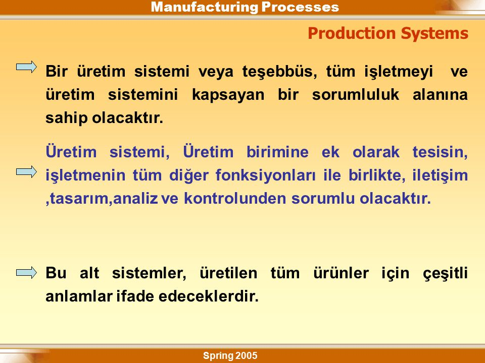 Manufacturing Processes Consequences of improper selection of materials and processes Spring 2005 Numerous examples of product failure can be traced to Improper selection of material.