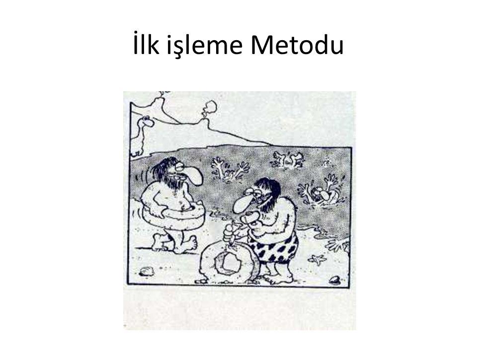 İlk İşleme Metotları Tarih boyunca malzemeler çeşitli metotlarla işlenmeye çalışılmıştır.