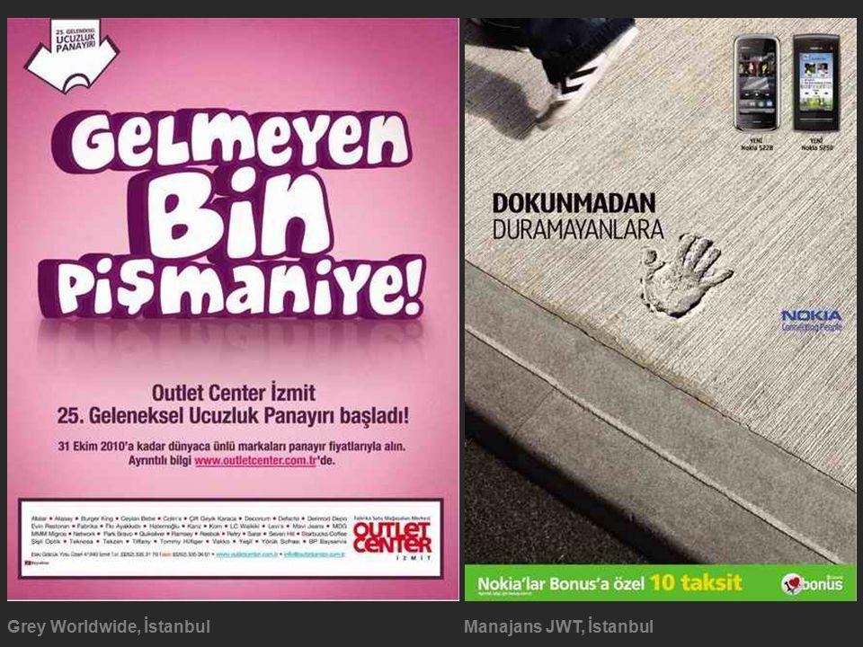 Grey Worldwide, İstanbulManajans JWT, İstanbul