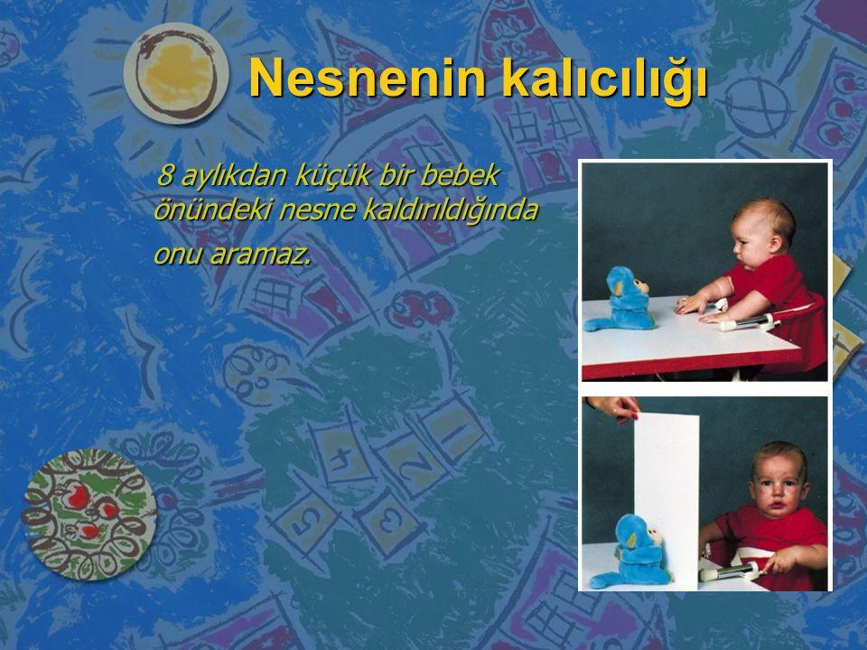 n Duyusal-motor evre (0-2 Yaş) n Bebek duyuları ve motor becerileri ile içinde bulunduğu dünyayı anlamaya çalışır. n Basit sembolleri kullanmaya başla