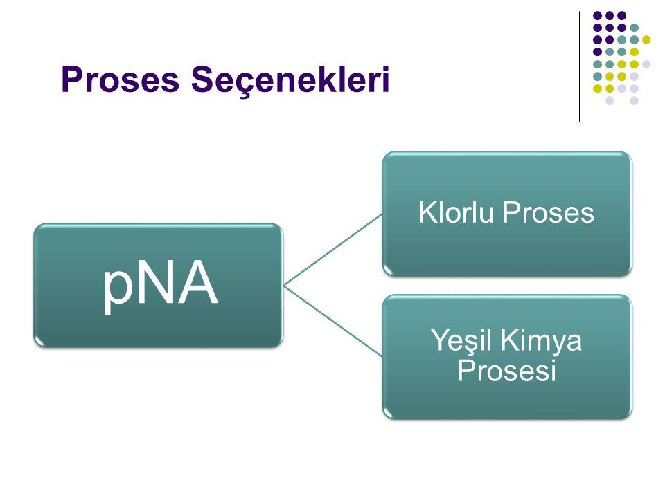 Proses Seçenekleri pNA Klorlu Proses Yeşil Kimya Prosesi