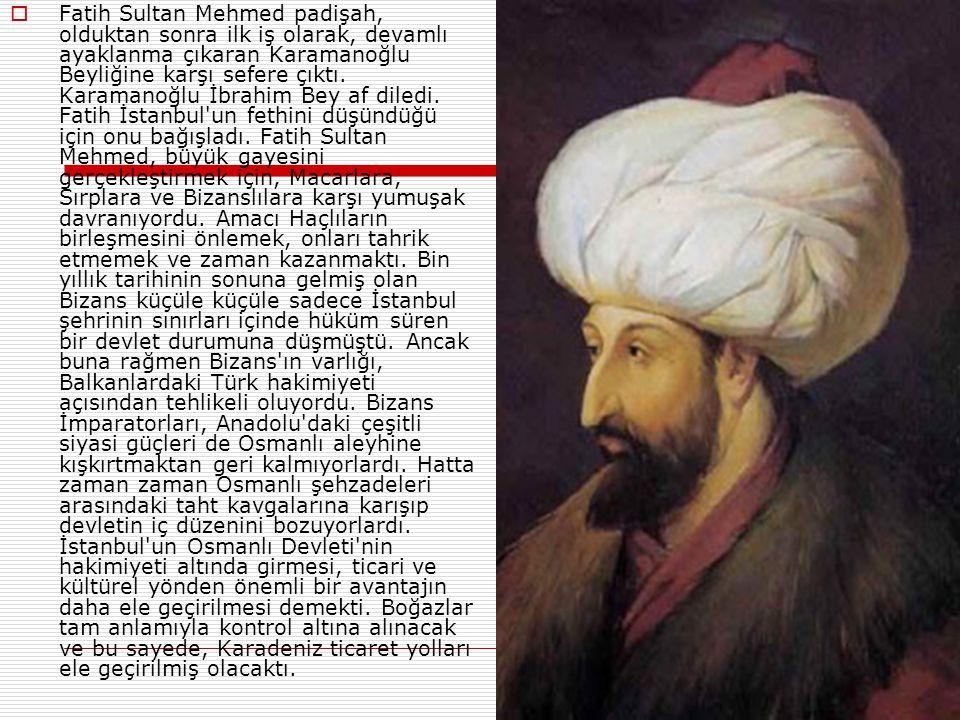  Bunun yanında Atilla'nın, Vikinglerin, Bulgarın ve Gotların da kuşatma yaptığı bazı kaynaklarda geçer ama tarihleri bilinmemektedir.  Fatih Sultan