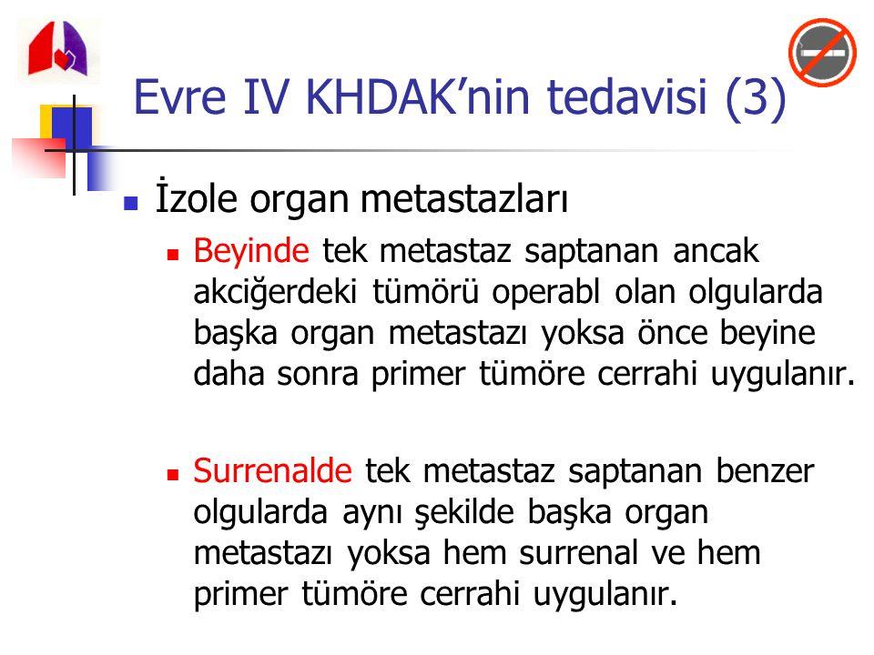 İzole organ metastazları Beyinde tek metastaz saptanan ancak akciğerdeki tümörü operabl olan olgularda başka organ metastazı yoksa önce beyine daha so