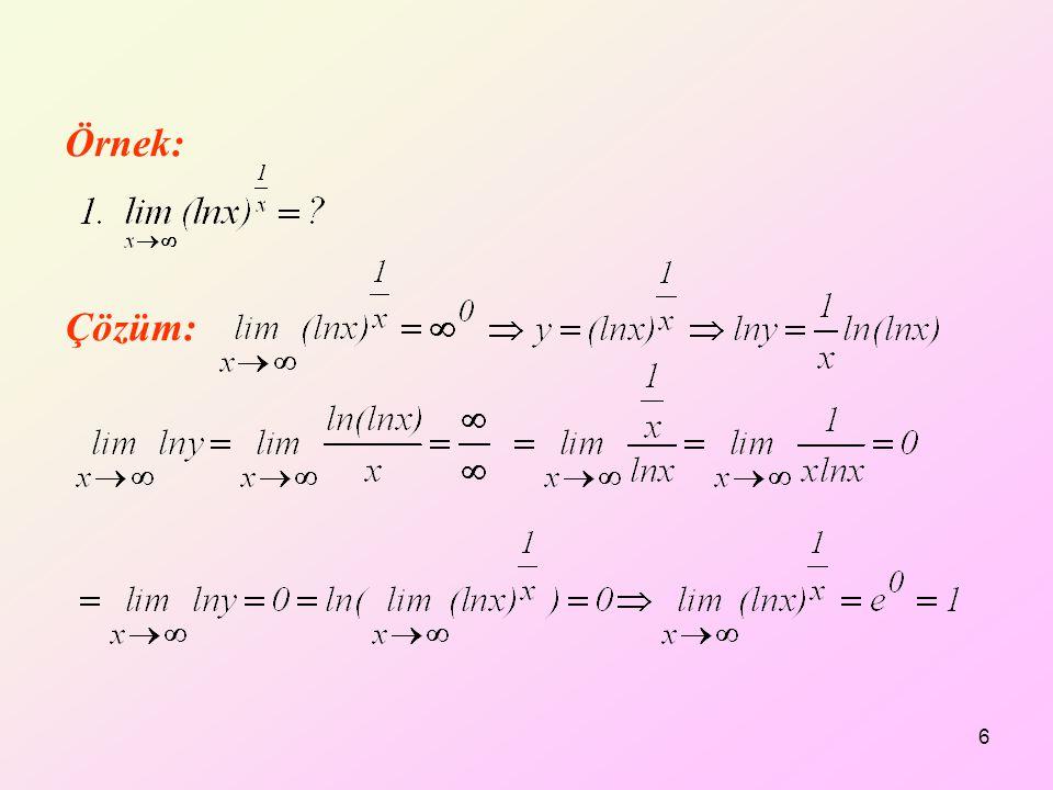 Çözüm: Örnek: 6